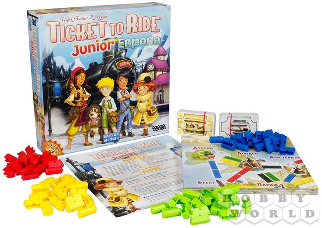 Ticket to Ride Junior: Европа (Билет на поезд детский: Европа) - фото2